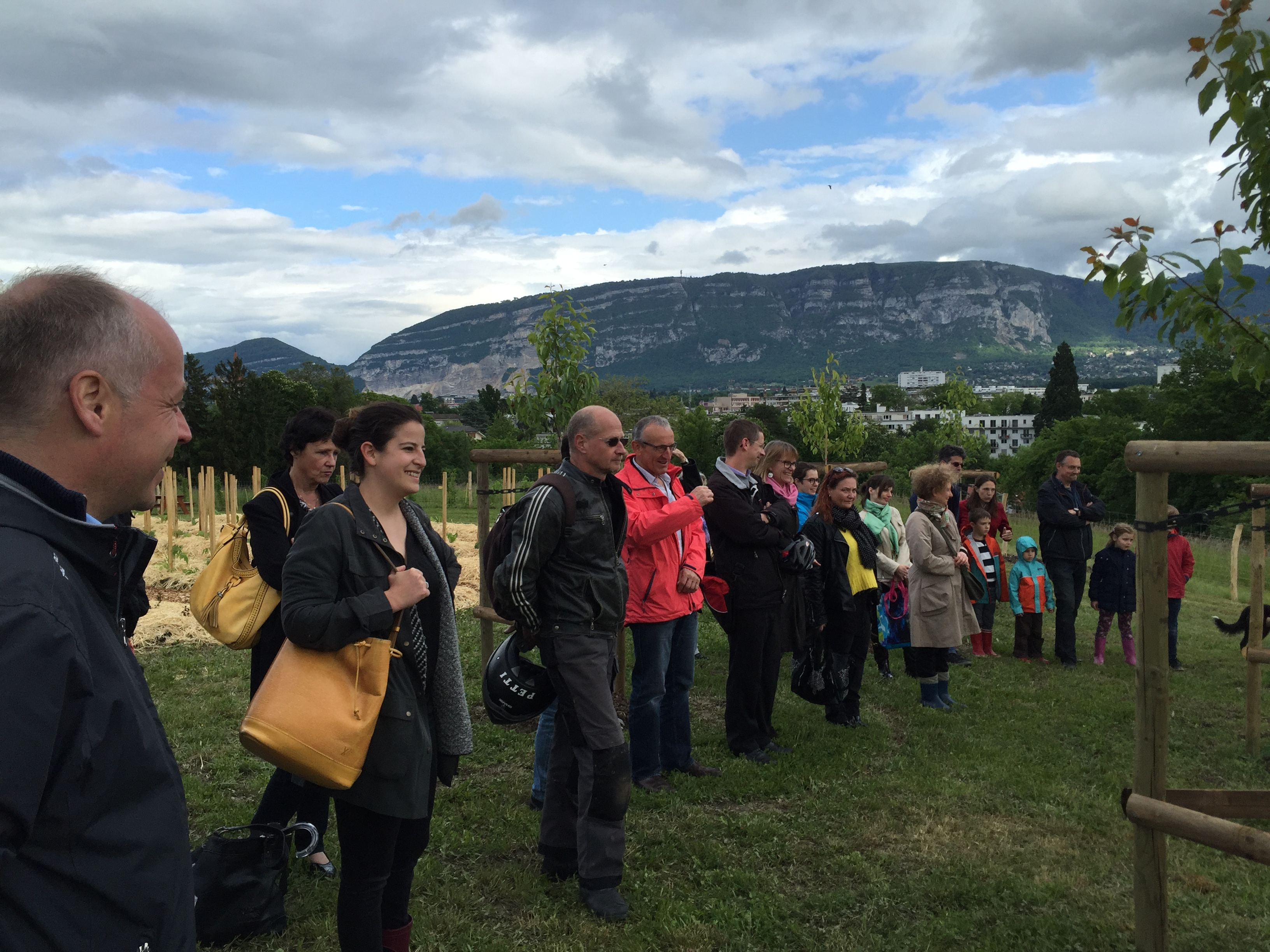 Inauguration du potager communal